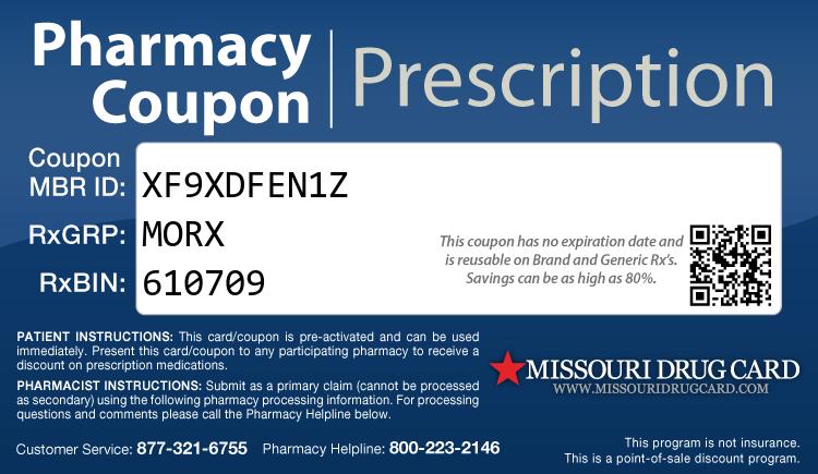 Missouri Drug Card - Free Prescription Drug Coupon Card